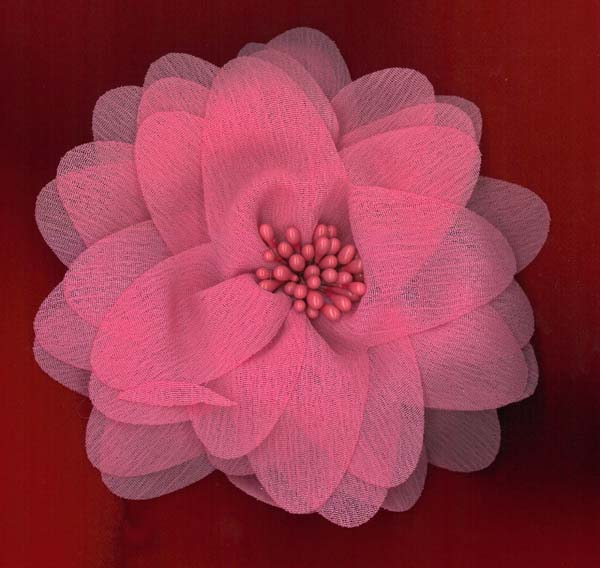 FLOWER BROOCH - CERISE