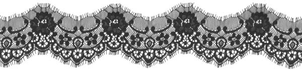 LACE EDGING - BLACK