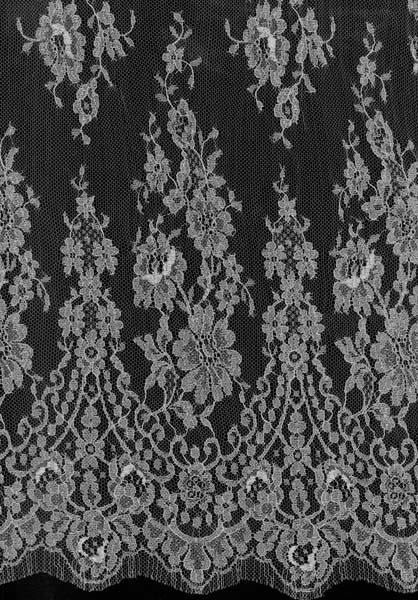 FRENCH METALLIC LACE - SILVER