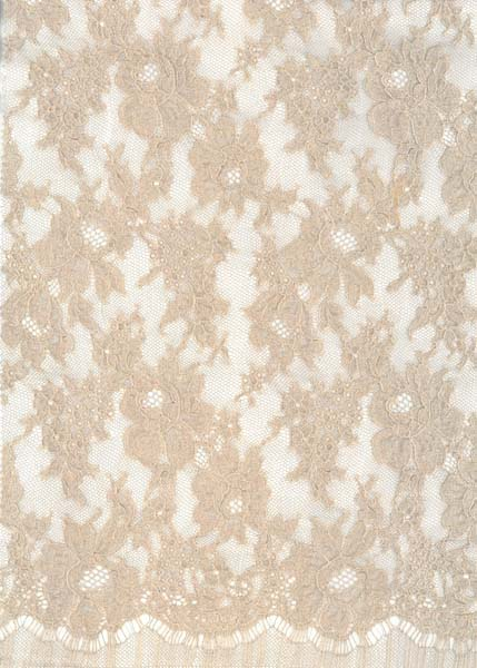 SPARKLE FRENCH LACE - 90cm ANT ROSE