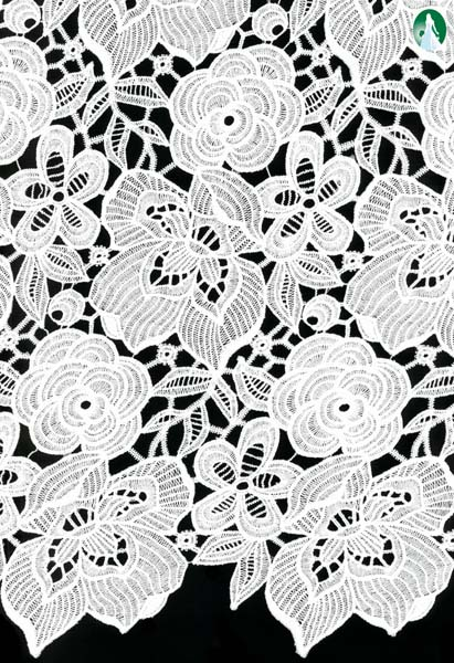 ECO RECYCLED POLYESTER GUIPURE LACE
