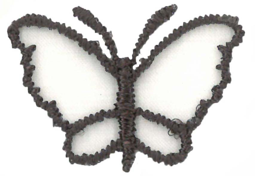 SMALL ORGANZA BUTTERFLY - CHOC