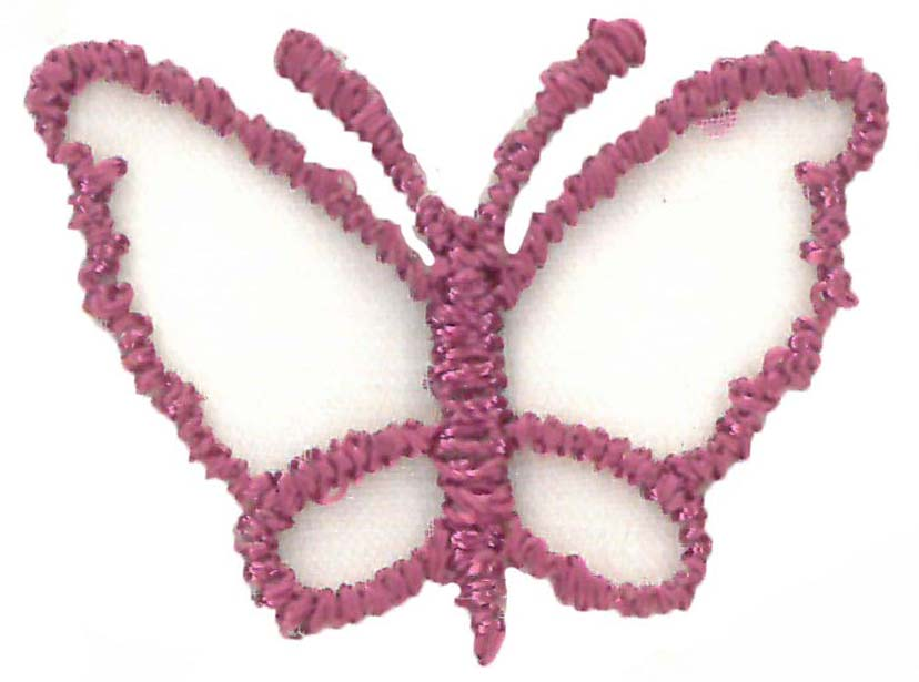 SMALL ORGANZA BUTTERFLY - DP ROSE
