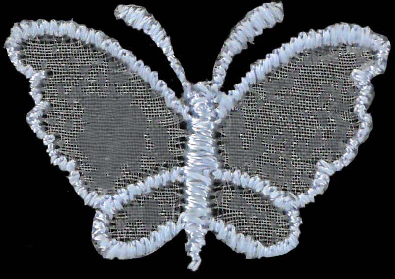 SMALL ORGANZA BUTTERFLY - SKY
