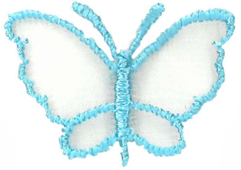 SMALL ORGANZA BUTTERFLY - TOPAZ