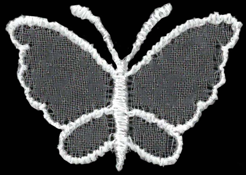 SMALL ORGANZA BUTTERFLY - WHITE