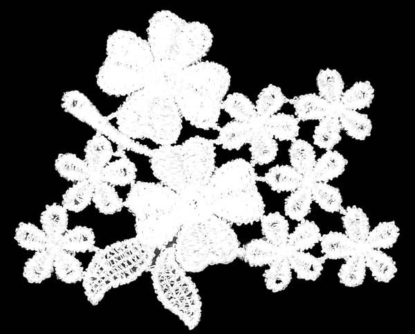 FLOWER MINI MOTIF - PACK OF 25 - IVORY