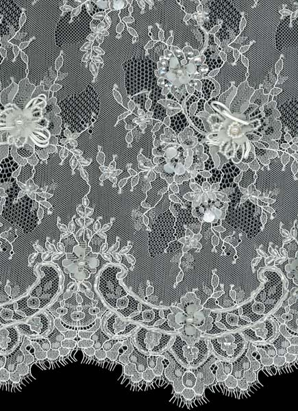 3D BEADED LACE - IVORY
