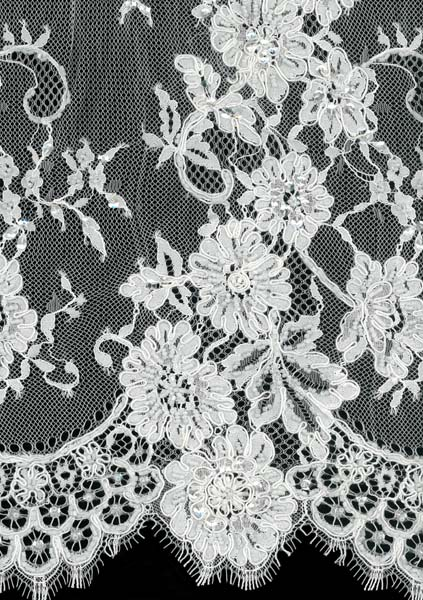 CORDED BEADED LACE - IVORY