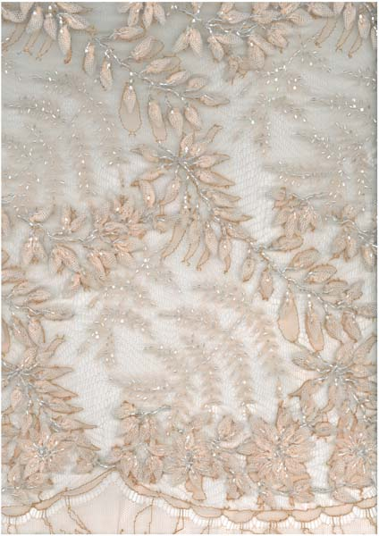 3D BEADED FRENCH LACE - ROSE