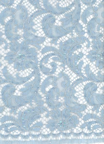 FRENCH LACE - POWDER BLUE (BABY BLUE)