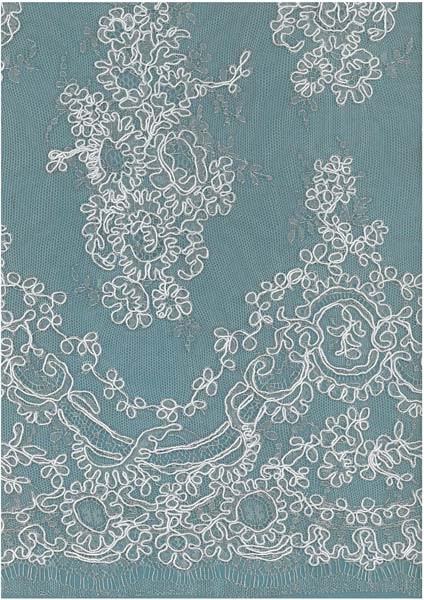 FRENCH CORDED LACE - IV/SIL
