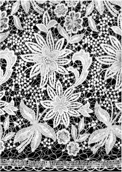 3D BEADED GUIPURE LACE - IVORY