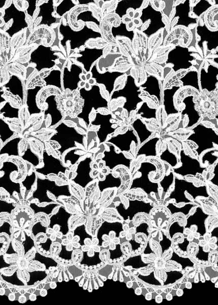 BEADED GUIPURE LACE - IVORY