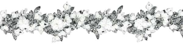 3D BEADED SEQUIN EDGING - IVORY