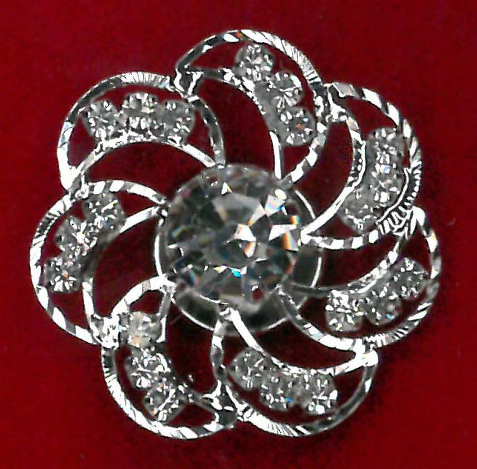 MAGNETIC BROOCH - NICKEL