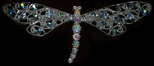 DRAGONFLY BROOCH - CRYSTAL AB/NICKEL
